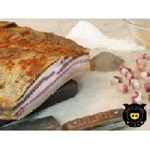 Pancetta di suino nero (Bauchspeck vom schwarzen Schwein)