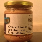 Creme aus Thunfisch und schwarzen Oliven in Oliven�l - Mare Puro