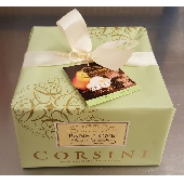 Premium Panettone Birne und Schokolade in Geschenkpapier mit Schleife