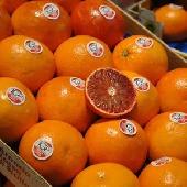 Rote Orange des sizilianischen PGI zu essen