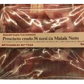 Rohschinken 36 Monate aus schwarzem Schweinefleisch - Artigiani di Bottega