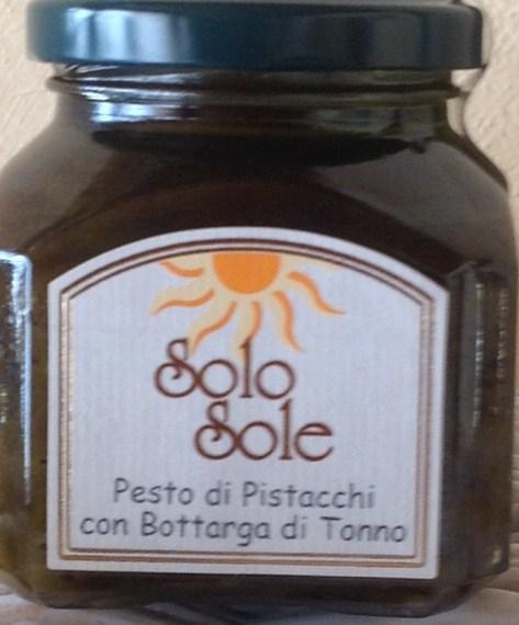 Pesto aus Pistazien aus Bronte mit Bottarga vom roten Mittelmeer-Thunfisch - SoloSole