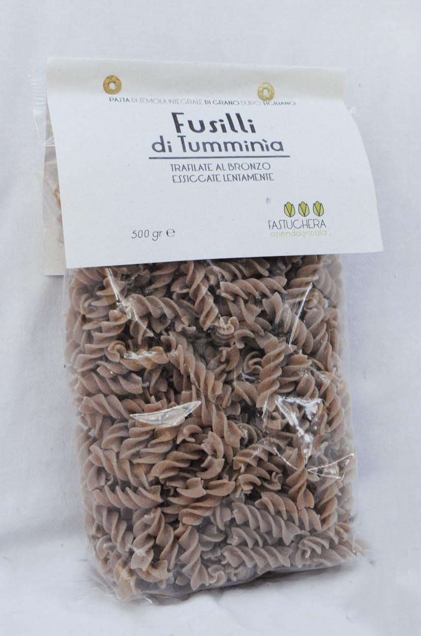 Halb-Vollkorn Fusilli aus Tumminia Weizen - Fastuchera