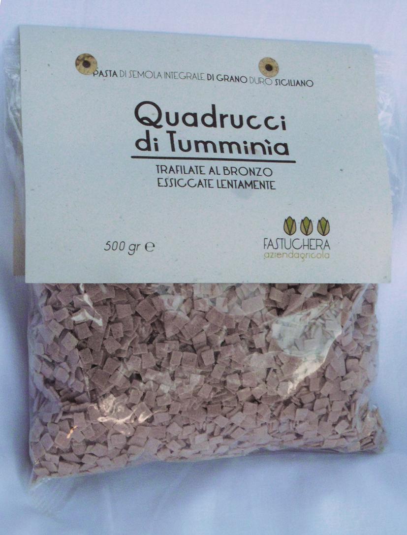 Vollkorn Quadrucci aus Tumminia Weizen - Fastuchera