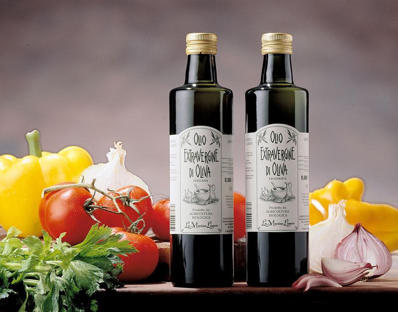 100% Italienisches biologisches natives Oliven�l extra aus Taggiasca Oliven - La Macina Ligure