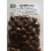 Entsteinte schwarze Oliven in Würze - Az. Agricola Melia