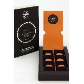 8 T�felchen aus traditioneller Modica Schokolade mit der Schale der sp�ten Ciaculli-Mandarine und wildem Fenchel