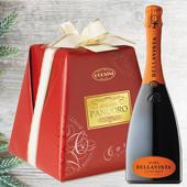 CHRISTMAS GREETINGS PACK: Pandoro Premium Carta e Fiocco - Bellavista Alma Cuv�e Brut Franciacorta